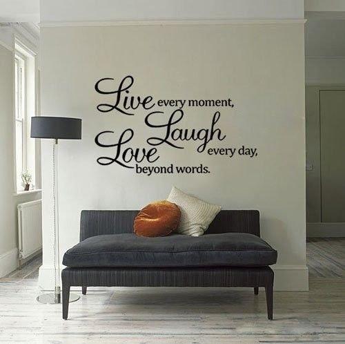 Wall Art Quotes About Life : Naklejka dekoracyjna na cian live laught love gadget