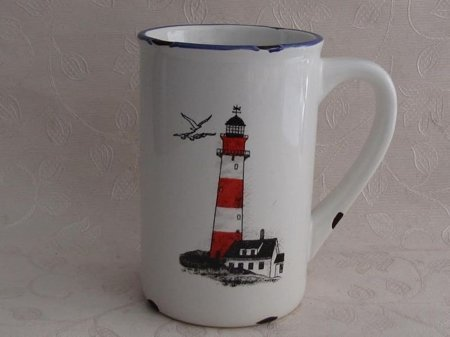 Porcelanowy kubek retro - Light house