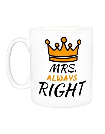 Kubek biały - Kubek MRS. RIGHT