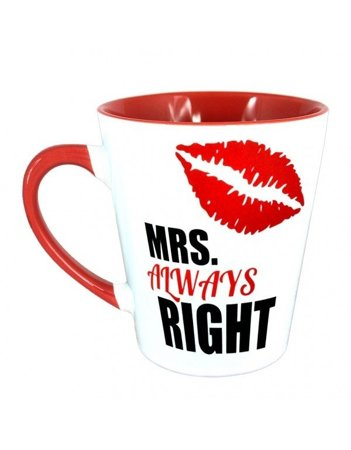 Kubek latte z czerwonym uszkiem - MRS. Always Right