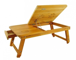 Przenośny bambusowy stolik pod laptopa  / Portable bamboo table for laptop