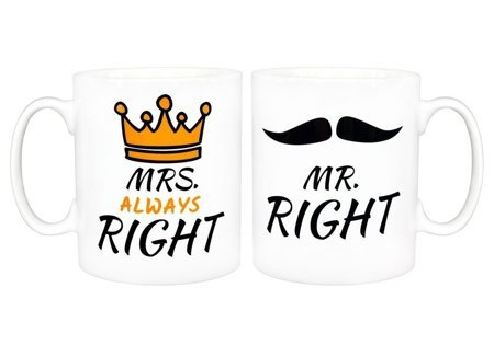 Zestaw Kubków - Mrs. Always Right, Mr. Right